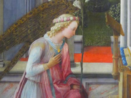 Fra Filippo Lippi, L'Annonciation (v.1443), détail