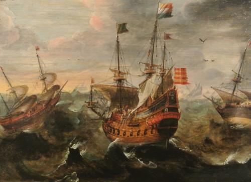 frédéric tison,photographie,une escadre de vaisseaux dans la tempête,andries van aertvelt