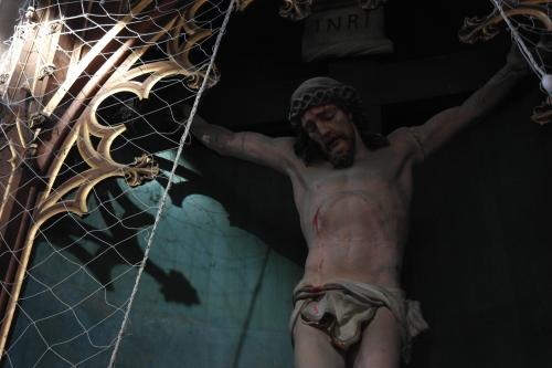 frédéric tison,photographie,église saint-jacques,le tréport,christ en croix