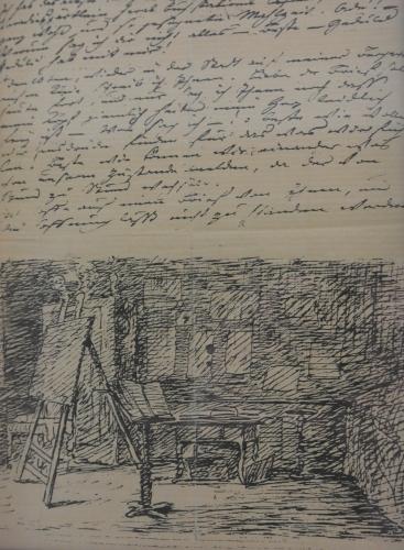 Goethehaus 13 - manuscrit et dessin de G.jpg