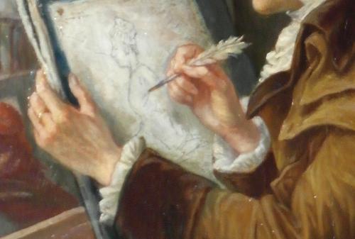 joseph-emmanuel van den büssche (1837-1908),le peintre david dessinant marie-antoinette conduite au supplice,le 16 octobre 1793,frédéric tison,photographie,musée de la révolution française