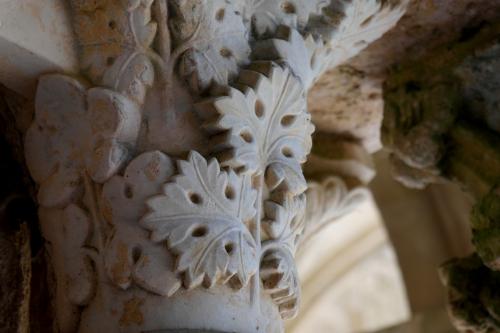 frédéric tison,photographie,abbaye sainte-marie de fontfroide,cloître,chapiteau